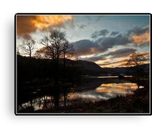 Sunset over Rydal water Canvas Print
