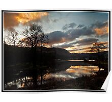 Sunset over Rydal water Poster