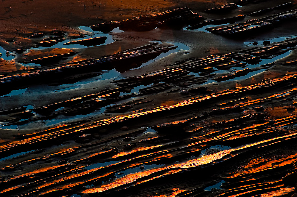 sand and limestone, low tide by Eyal Nahmias