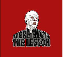 Here Endeth The Lesson - Buffy BTVS Photographic Print