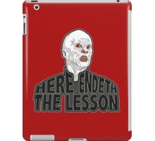 Here Endeth The Lesson - Buffy BTVS iPad Case/Skin