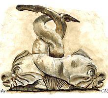 Dolphins, Piazza del Popolo, Rome by Greta Art