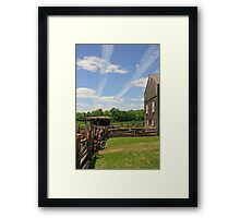 Jet Contrails and Farm Framed Print