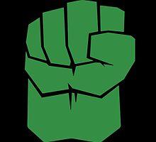 Incredible Hulk Fist Minimalist [Color] by Fardan Munshi