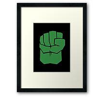Incredible Hulk Fist Minimalist [Color] Framed Print