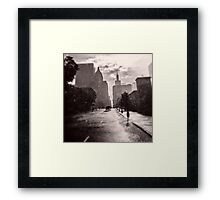 Escape in the Rain-409c Framed Print