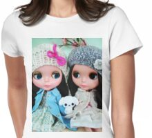 Blythe- TwoVintageDolls. Womens Fitted T-Shirt