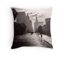 Escape in the Rain-409c Throw Pillow