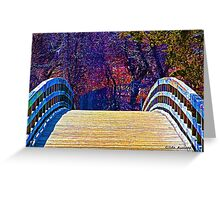 First Day of Spring on a Bridge Greeting Card
