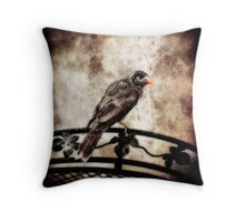 Noisy Miner Throw Pillow