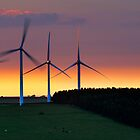 Windfarm at Sunset by Chris McIlreavy