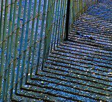 Shadowy Beach Fence by Gilda Axelrod