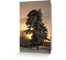 Laden At Dusk Greeting Card