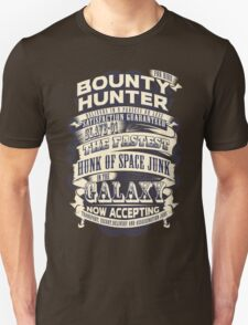 Space Bounty Hunter For Hire Unisex T-Shirt
