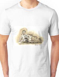 Angel of the fountain of Neptune, Piazza Navona, Rome Unisex T-Shirt