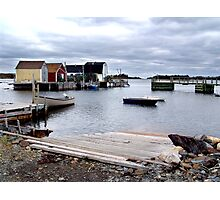 Fishing Sheds,Blue Rocks Photographic Print