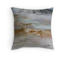 Geyser area Yellowstone NP Throw Pillow