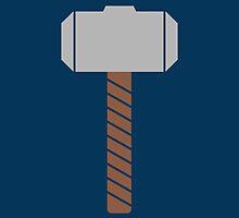 Thor Hammer Mjolnir Minimalist by Fardan Munshi
