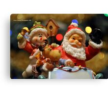Bokeh-Clause Is Coming To Town Canvas Print
