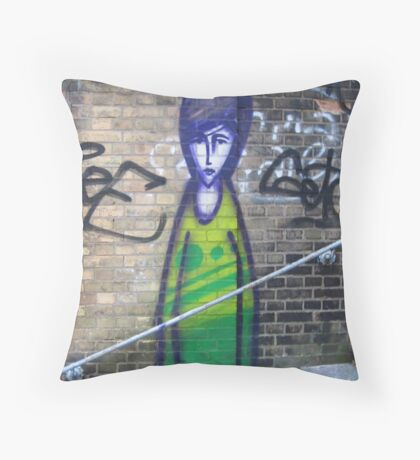 Crack in the wall. Throw Pillow