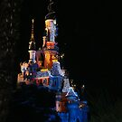 Disneyland Paris Sleeping Beauty's Castle Christmas Lights 1 by JillyPixie