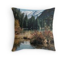 Lake in The Rockies During Autumn Throw Pillow