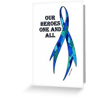 Blue Camoflauge Ribbon of Support  Greeting Card