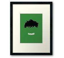 The Hulk Face Minimalist Framed Print