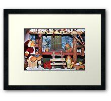 Santa Stops for Lunch Framed Print