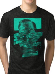 """Collage Face #2 """"Mint Mouths"""" Tri-blend T-Shirt"""