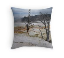 Two Dead Trees Throw Pillow