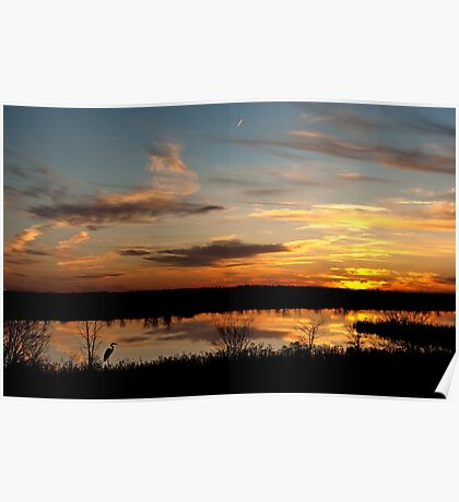 Molten Sunset at Natchitoches, Louisiana Poster