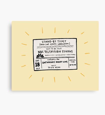 SNL Ticket Canvas Print