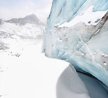 Athabasca Glacier in Winter by Neil Thompson