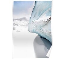 Athabasca Glacier in Winter Poster