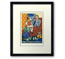 Daddy, What Did YOU Do in the Eco Wars? Framed Print