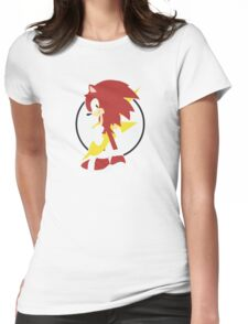 Anthropomorphic Hedgehog Womens Fitted T-Shirt