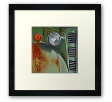 With The Compliments of Rust Framed Print