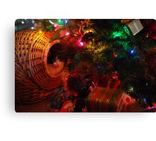 Wrapped and Ready for Christmas Morning Canvas Print