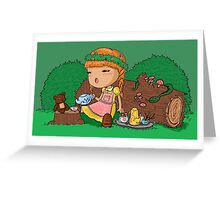 A Forest Picnic Greeting Card
