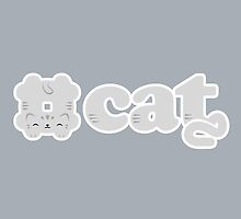 Hashtag Cat (Grey) by murphypop