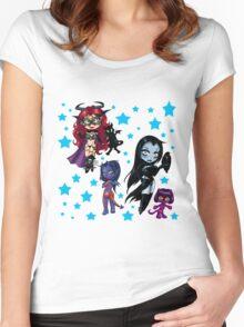 Tarot & Friends Chibi design Women's Fitted Scoop T-Shirt