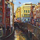 Reflections in the Oudegracht by Cameron Hampton