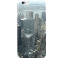 Aerial View of Lower Manhattan, Governors Island, View from One World Observatory, World Trade Center Observation Deck iPhone Case/Skin