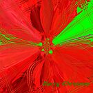 Red and Green Christmas Flower by MaeBelle