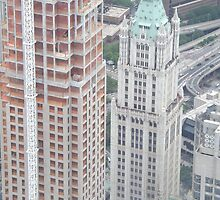 Aerial View of Lower Manhattan, Woolworth Building, View from One World Observatory, World Trade Center Observation Deck by lenspiro