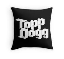 Topp Dogg Debut Logo Throw Pillow