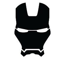 Iron Man Helmet Minimalist [Black] by Fardan Munshi