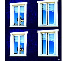 windows in Québec Photographic Print