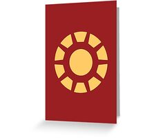 Iron Man Arc Reactor Minimalist Greeting Card